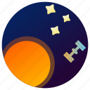 astronomy, planet, satellite, space, stars, sun, universe icon