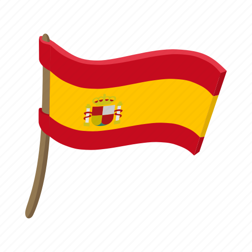 Cartoon Country Flag National Patriotism Spain Spanish Icon Download On Iconfinder