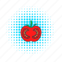 comics, food, ingredient, red, ripe, tomato, vegetable icon