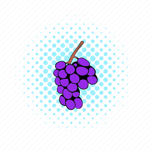 berry, comics, fruit, grape, healthy, ripe, vine icon