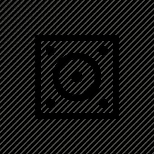 audio, box, media, music, sound, speaker, stereo icon