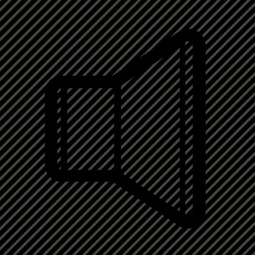 audio, cone, music, quiet, sound, speaker, volume icon