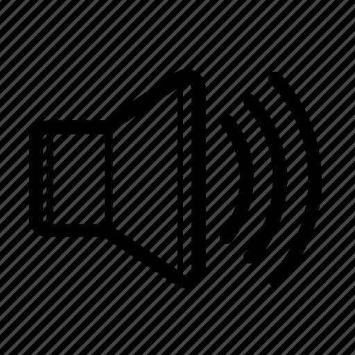 audio, loud, music, sound, speaker, up, volume icon