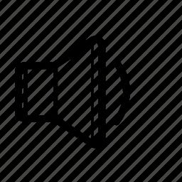 down, low, music, quiet, sound, speaker, volume icon