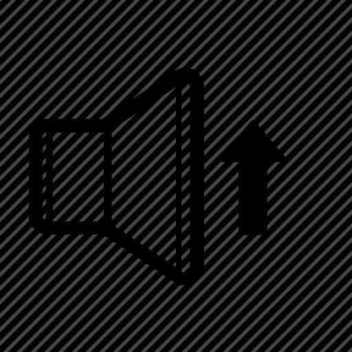 audio, increase, music, sound, speaker, up, volume icon