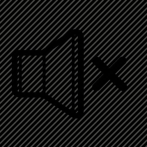 control, mute, silence, silent, sound, speaker, volume icon