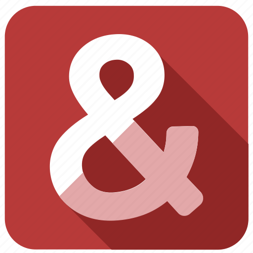 ampersand, and, character, sign, special icon