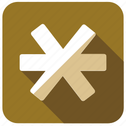 asterisk, character, mark, multiply, sign, special, star icon