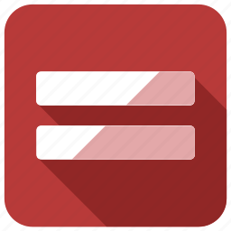 character, equal, list, sign, special, tracks icon