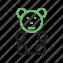 bear, bow, brown, small, stuffed, teddy, toy