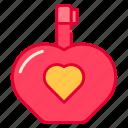 perfume, love, valentine icon