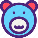 animals, bear, brown, cute, kids, nature, pets icon