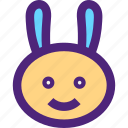 animals, bunny, cute, kids, nature, pets, rabbit icon