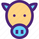 animals, bull, cow, cute, kids, nature, pets icon