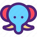 animals, cute, elephant, kids, nature, pets icon