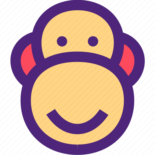 animals, chimpanzee, cute, kids, monkey, nature, pets icon