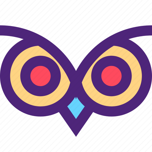 animals, cute, eyes, kids, nature, owl, pets icon