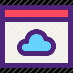 app, applications, cloud, development, page, technology, web icon