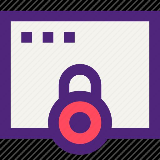 app, applications, development, lock, page, technology, web icon