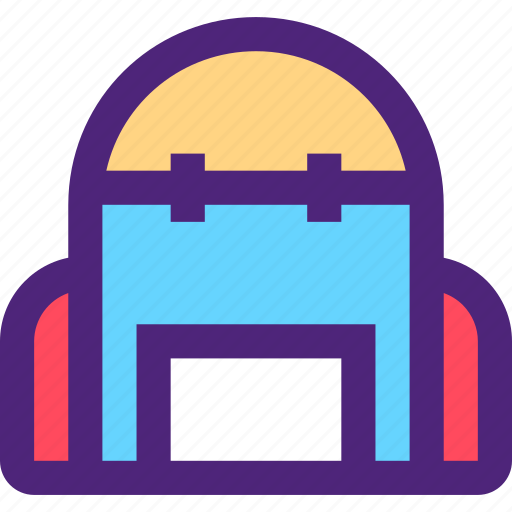 activity, bag, camping, hiking, outdoor, wild icon