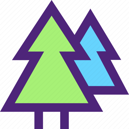 activity, camping, forest, hiking, outdoor, trees, wild icon
