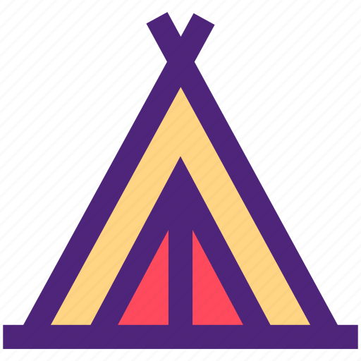 activity, camping, hiking, outdoor, tent, wild icon