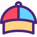 apparel, baseball, clothes, clothing, dress, hat, outfit icon