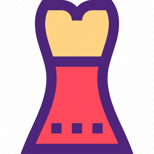 apparel, clothes, clothing, dress, night, outfit icon