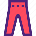 apparel, clothes, clothing, dress, outfit, pants icon