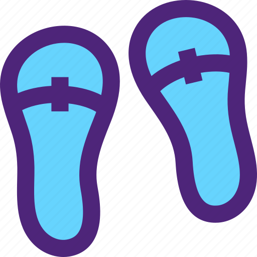 apparel, clothes, clothing, dress, outfit, slippers icon