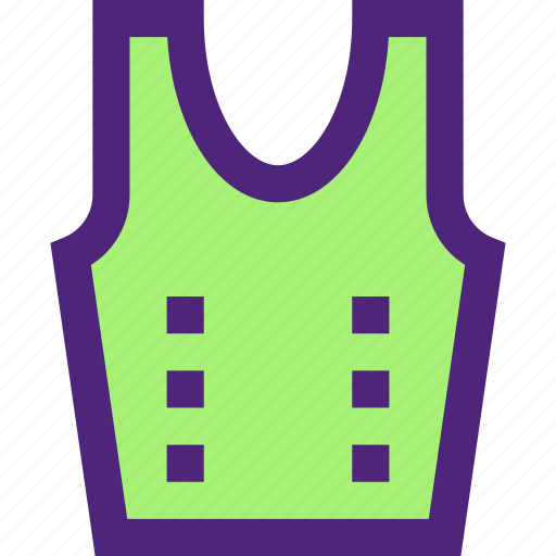 apparel, clothes, clothing, dress, outfit, vest icon