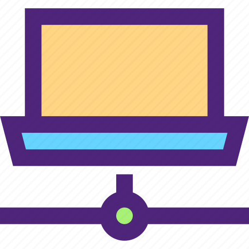 computers, connected, digital, electronic, machine, network, technology icon