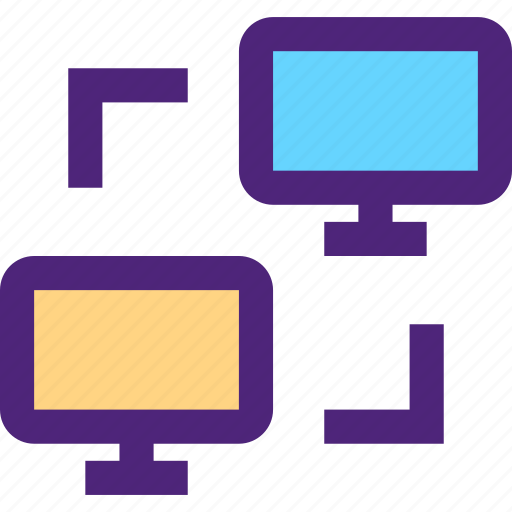 computers, data, digital, electronic, exchange, machine, technology icon