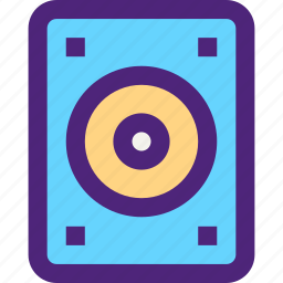 computers, digital, disc, drive, electronic, hard, machine, technology icon