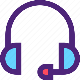 computers, digital, electronic, headphones, machine, microphone, technology icon