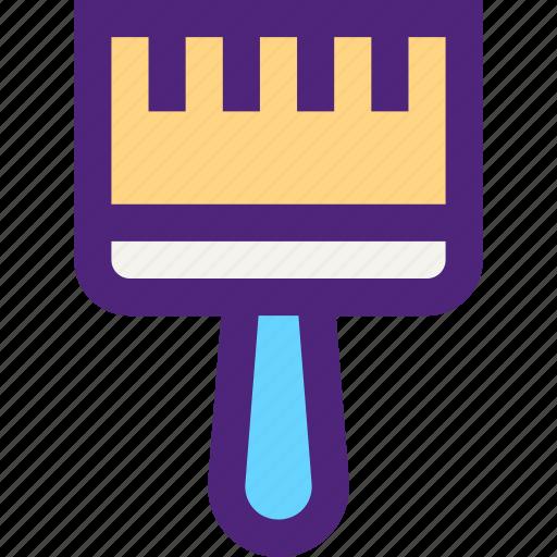 architecture, brush, build, construction, development, manufacture, paint icon