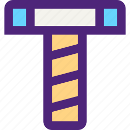 architecture, build, construction, development, manufacture, screw icon
