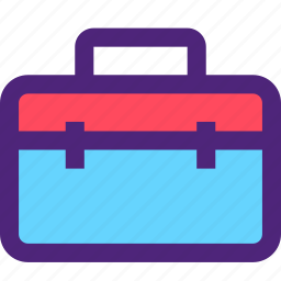 architecture, bag, build, construction, development, manufacture, tool icon