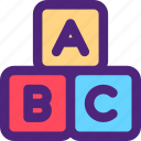 abc, cubes, culture, education, learn, school, study icon