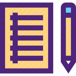 culture, education, learn, notebook, paper, pen, school, study icon