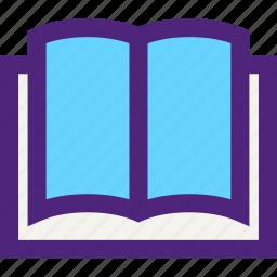 book, culture, education, learn, open, school, study icon