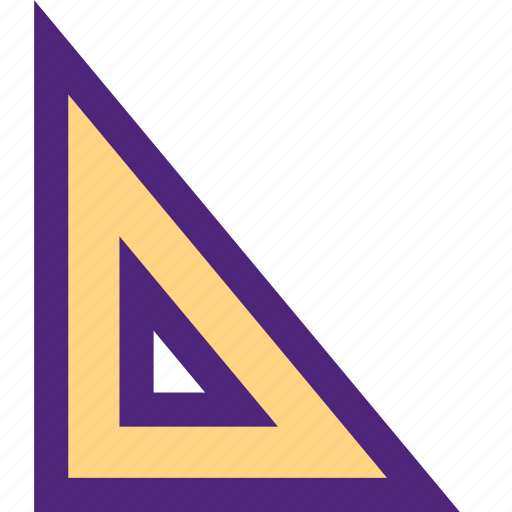 culture, education, learn, ruler, school, study, triangle icon