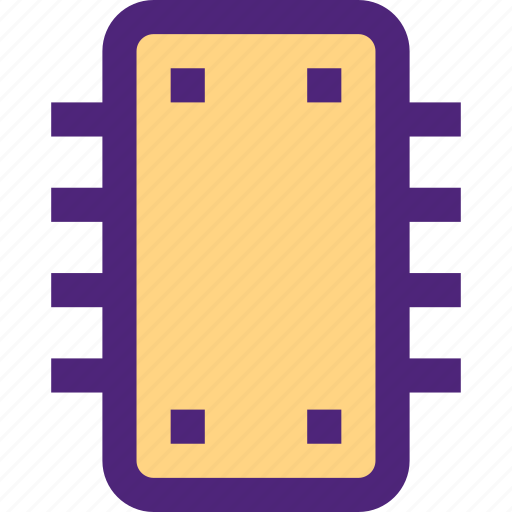 chipset, components, devices, electronics, gadgets, systems icon