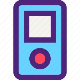 components, devices, electronics, gadgets, mp3, player, systems icon