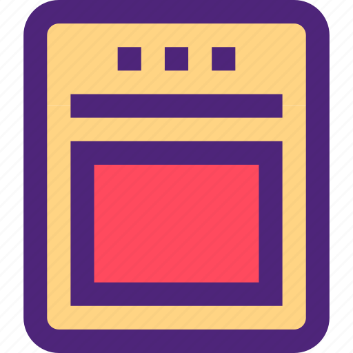 components, devices, electronics, gadgets, oven, systems icon