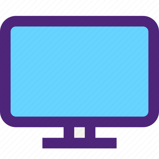 components, devices, electronics, gadgets, monitor, screen, systems, tv icon