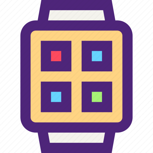components, devices, electronics, gadgets, smartwatch, systems icon