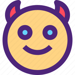 chat, devil, emoji, emoticons, expression, face icon