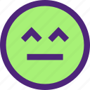 chat, emoji, emoticons, expression, face, gasp icon