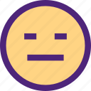chat, emoji, emoticons, expression, face, grumpy icon